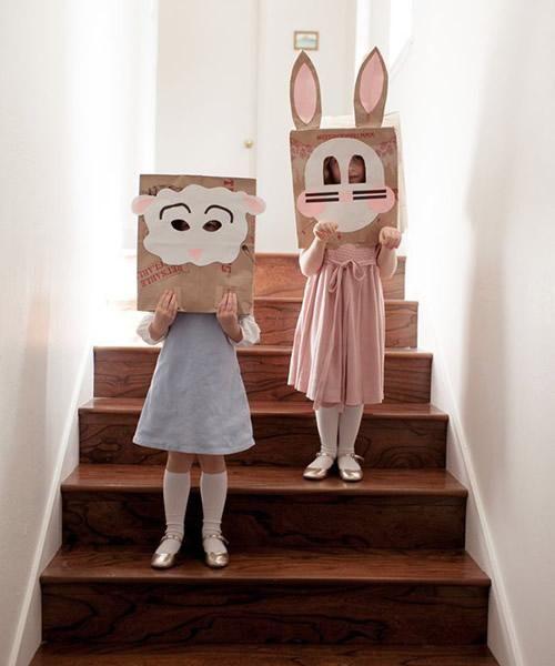 manualidades infantiles mascaras animales1 Máscaras de animales para Pascua