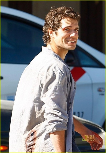 Henry Cavill smiling because I picked him to be Cooper Maxwell.