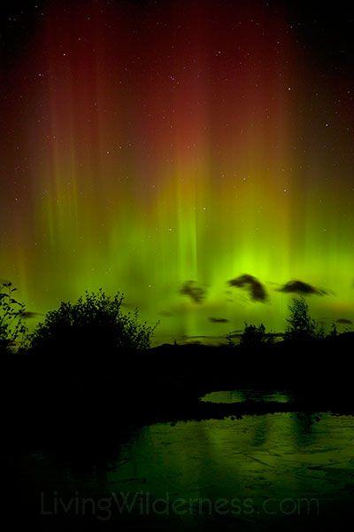 Northern Lights viewed from Mount Pilchuck, Washington Cascades