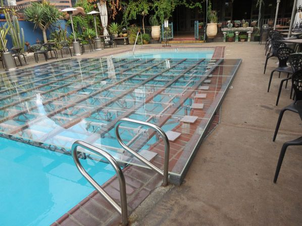 1000 ideas about pool covers on pinterest marble mosaic for Pool platform ideas