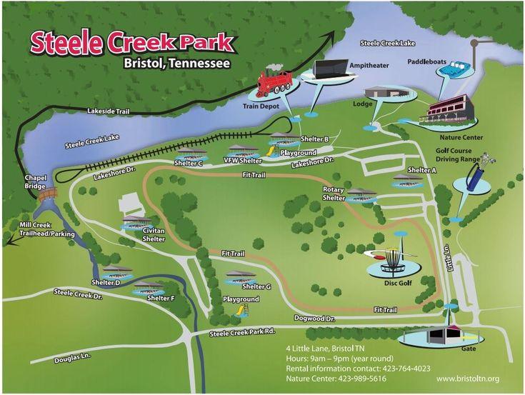 steele creek map, BRistol VA