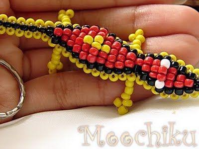pony bead keychains patterns free | belt to bead owl pattern swap idea stitched dna keychains