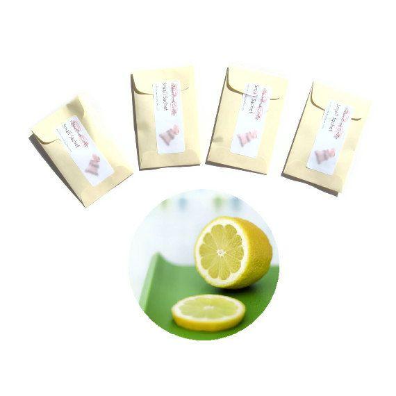 4 Joyful Haven Scented Sachets Lemon Linen Pastel by pebblecreekcandles, $12.00 #lemon #linen #scented #sachets