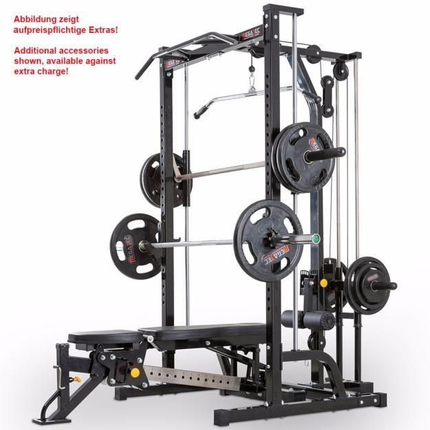 Máquina De Musculación Multipress Tipo Smith Con Estación De Poleas Megatec Diseño De Gimnasio En Casa Maquinas De Gimnasio Gimnasio En Casa