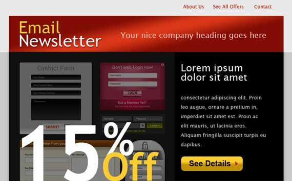PSD to Email Template Design Service Provider Company from India.