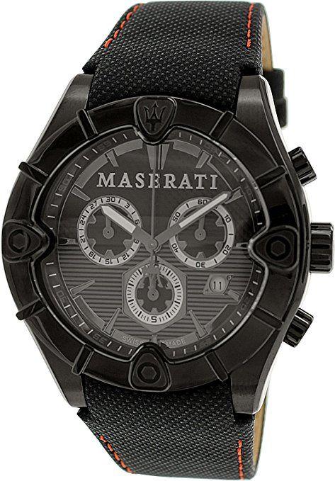 MASERATI MECCANICA Collection - R8871611002 - Reloj de caballero analógico (Acero inoxidable, Crono, cristal de Zafiro)Swiss Made-ESPECIAL-