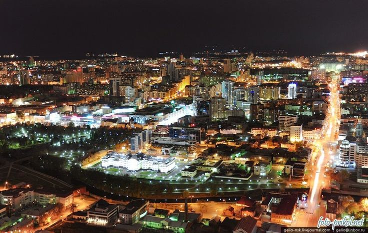 Екатеринбург ночью