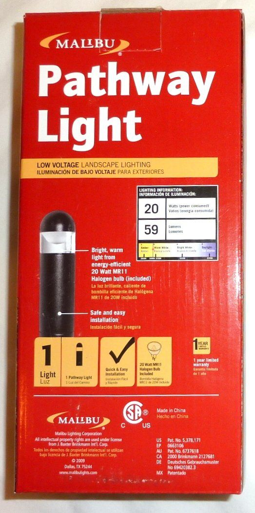 12 Pack of Malibu 8301930012 Bollard Lights 20 watt Cast Metal