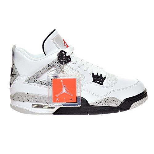 "Air Jordan 4 Retro OG ""CEMENT"" Men's Shoes White/Fire Red/Black/Tech Grey 840606-192 (9 D(M) US) Jordan http://www.amazon.com/dp/B01BVX2ZCU/ref=cm_sw_r_pi_dp_s-H2wb1DFVVYE"