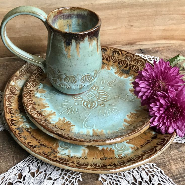 Custom made Native Mandala dinnerware sets available in just the amount you need. Stop by and check out our handmade dinnerware selection today.