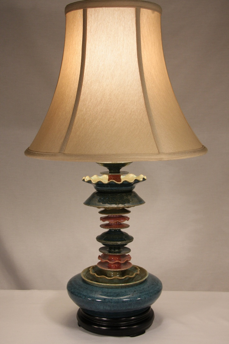 Wh wholesale vintage lead crystal table lamp buy cheap - Items Similar To Table Lamp In Stromy Blue Light Green And Rose