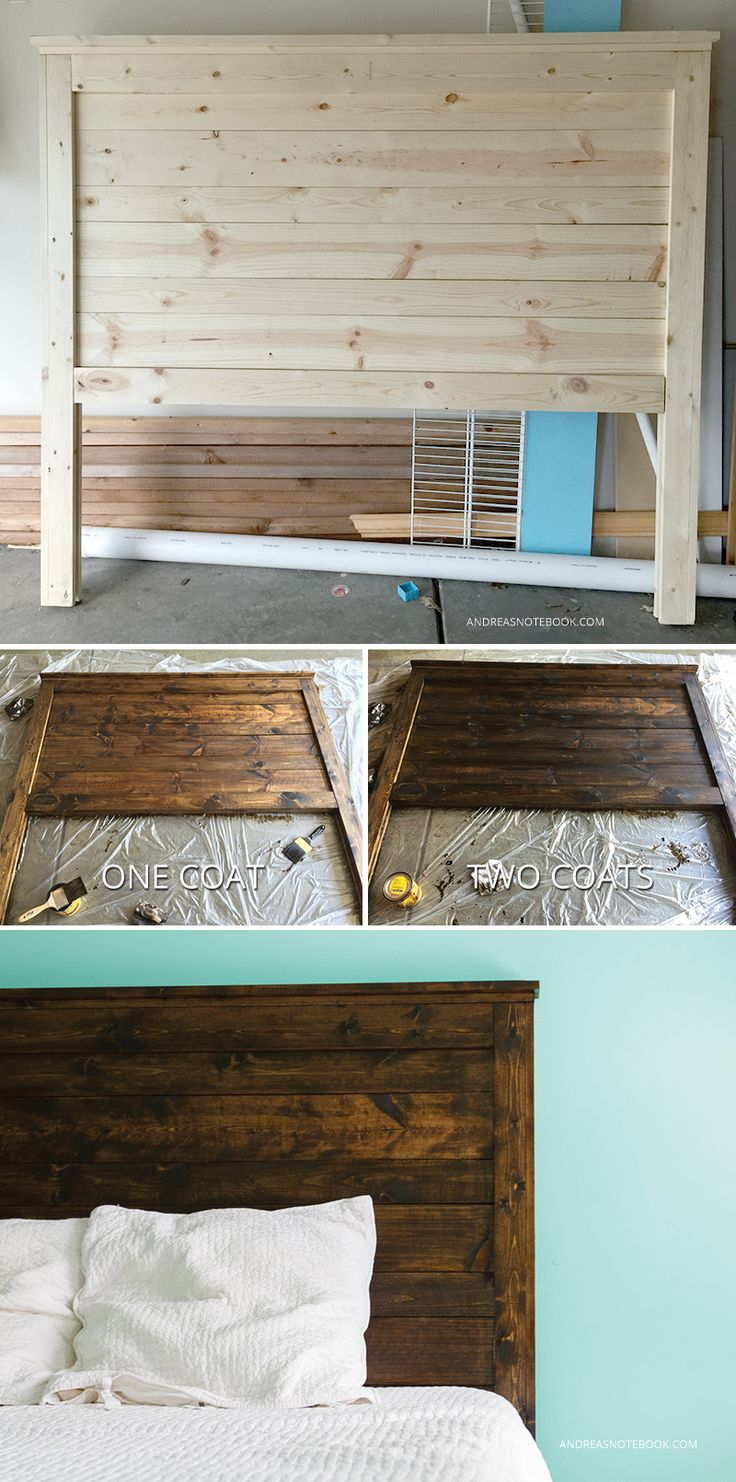 Wooden bed furniture design - Make Your Own Diy Rustic Headboard Andreasnotebook Com