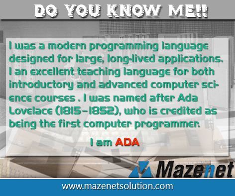 It is the history of ADA Programming languages