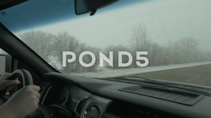 Driving In A Truck Through Snowy Winter Road Slow Motion - Stock Footage | by RyanJonesFilms