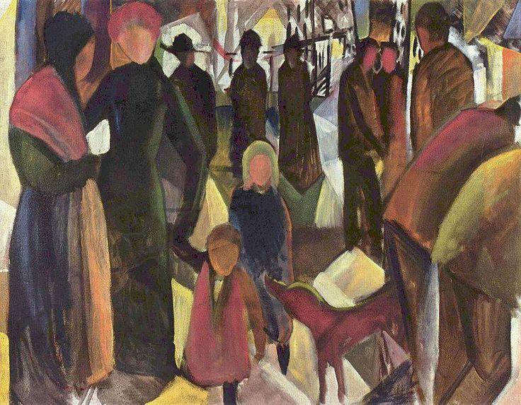アウグスト・マッケ『別れ』(1914) August Macke - Abschied  #表現主義 #ブリュッケ