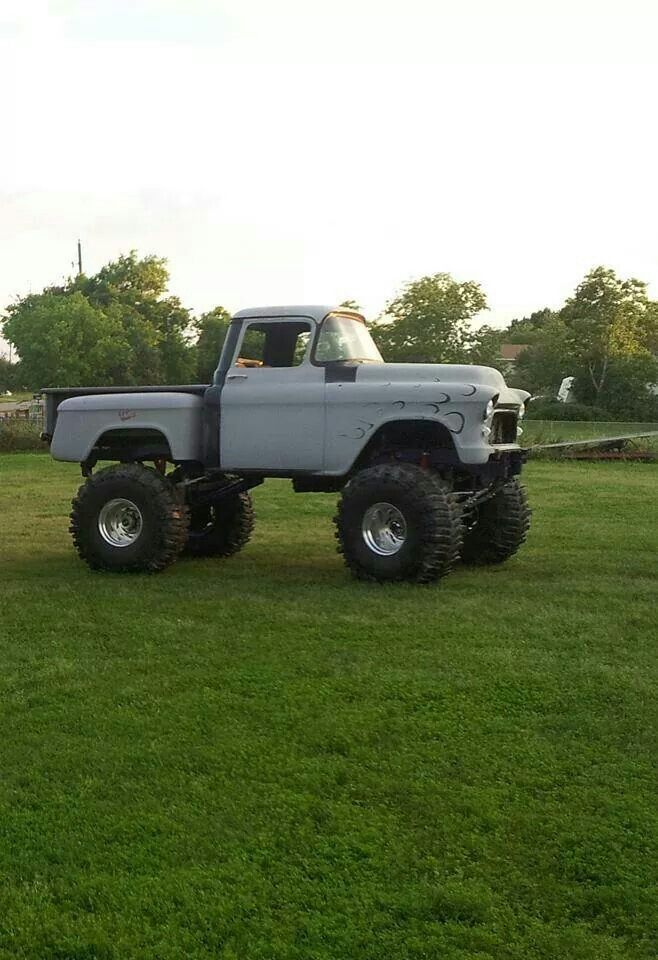 Old School lifted Chevy pick up