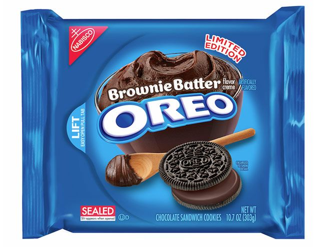 We Tasted (and Graded) Every Crazy New Oreo Flavor   BROWNIE BATTER   Concept: On point Grade: B+ Tasting notes: Decadent, rich, thick, lush