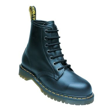 The classic Black Dr Martens Airwair Safety Boot has an air cushioned sole, making this the ideal footwear for people, whose work requires them to stand for long periods of time. Designed for maximum comfort and with a steel toe for minimising the risk of injury. And of course featuring the famous Yellow stitching!