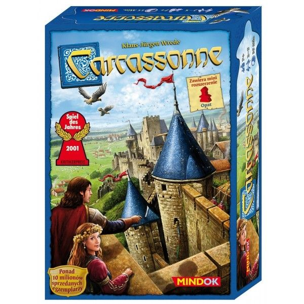 gra planszowa familijna - CARCASSONNE