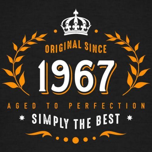 original, desde 1967 simplemente el mejor 50 cumpleaños - Camiseta hombre