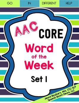 In preschool I use a Core Word of the Week program with the whole team (student, teacher, therapists, paraprofessionals) to increase to the use of the AAC device and core vocabulary words. The packet is meant to provide a month of instruction (four core words are targeted) for a classroom.