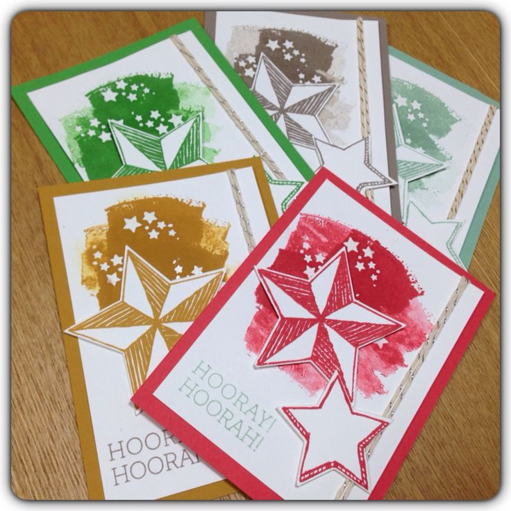 Stampin up(SU/スタンピンアップ) In color 2015-2017 カラー見本用に作ったカード。スタンプはBe the star。 #Stampin up #SU #IN COLOR #Be the star #sumtin' sumtin'