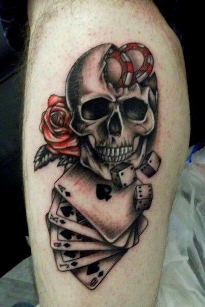 Les 25 meilleures id es de la cat gorie tatouage poker sur pinterest tatouage de carte - Tete de mort signification ...