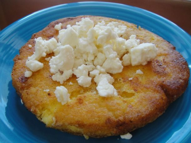 Arepas de queso (use feta cheese if you can't find queso blanco)