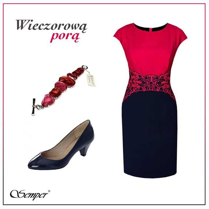 Niezwykle elegancka i pełna klasy sukienka. Świetna na wieczorne wyjście do teatru czy oficjalne spotkanie biznesowe.  http://bit.ly/SemperPolina http://bit.ly/SemperMalina