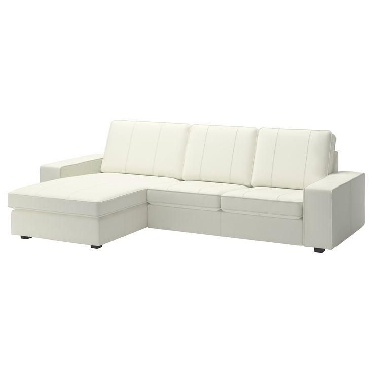 KIVIK Loveseat and chaise lounge - Grann/Bomstad white - IKEA