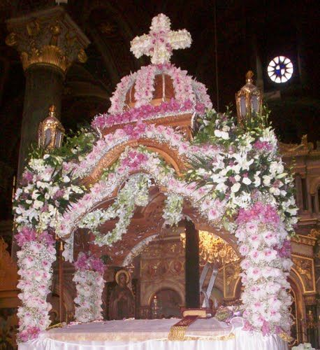 Holy Friday Night Services - Epitaphios, symbolizing the Tomb of Christ  easter in greece