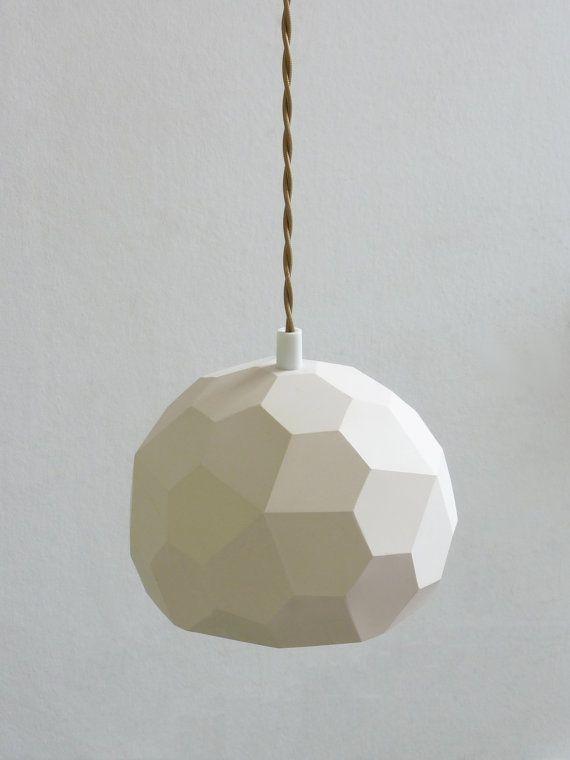 Polyhedra Globe Pendant Light by RawDezign on Etsy, £50.00