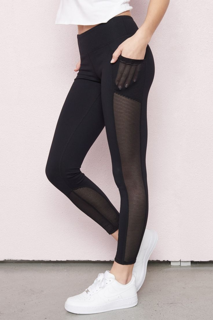 Shake things up - Athletic Mesh Ladder Legging