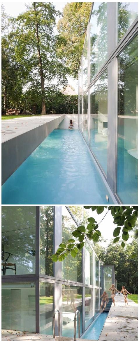 Pool in Belgium home | Govaert & Vanhoutte