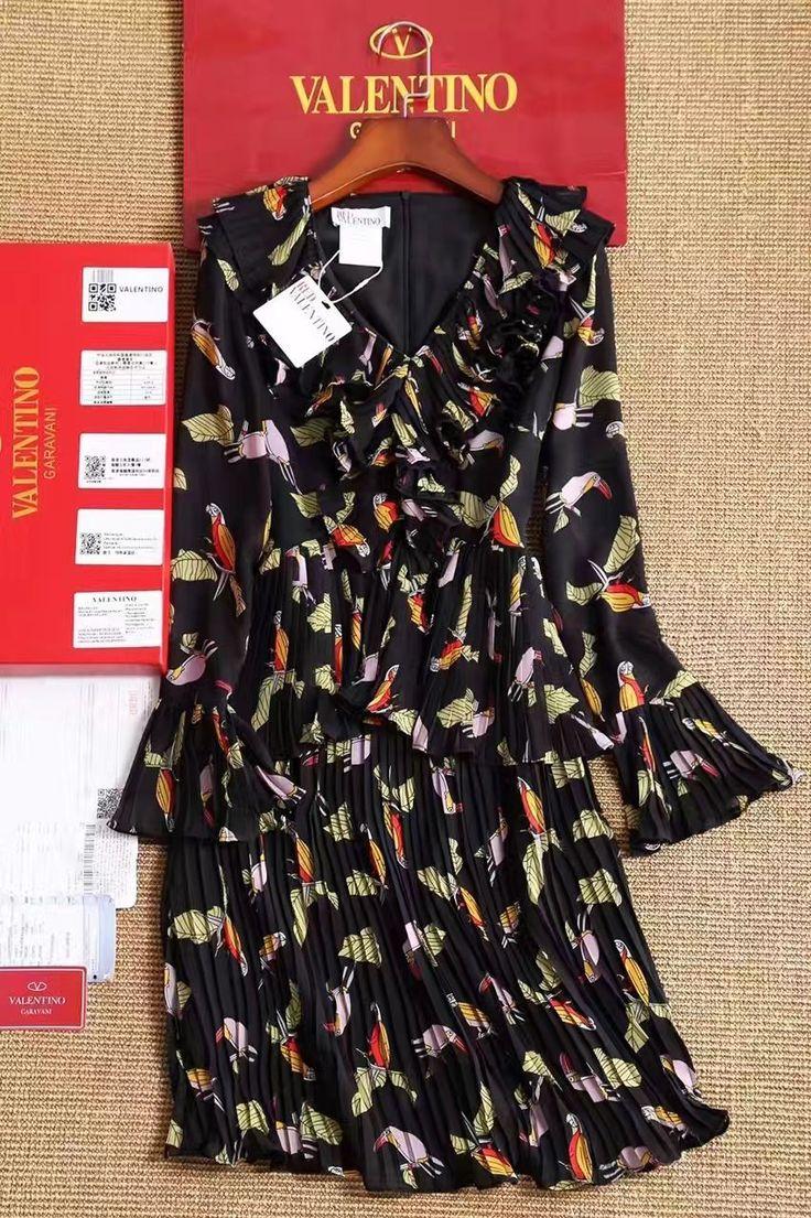 Люкс копия платья Валентино с ярким принтом! Размеры S M L Цена 6999 руб