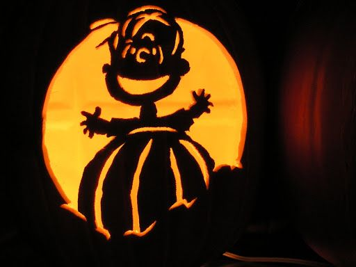 66 best punkins images on pinterest halloween ideas for Charlie brown pumpkin template