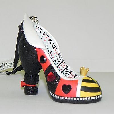 Disney Parks Queen of Hearts Alice in Wonderland Runway Shoe Ornament Christmas