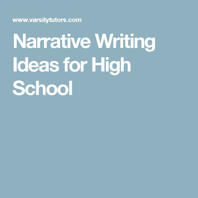 narrative writing ideas for high school How to teah reative writing source - http: //wwwehowcom general how to teach creative writing activities  creative writing ideas for high school.