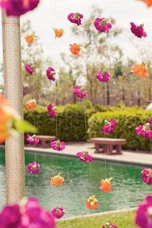 fucshia indian inspired floral garland - bride of adelaide