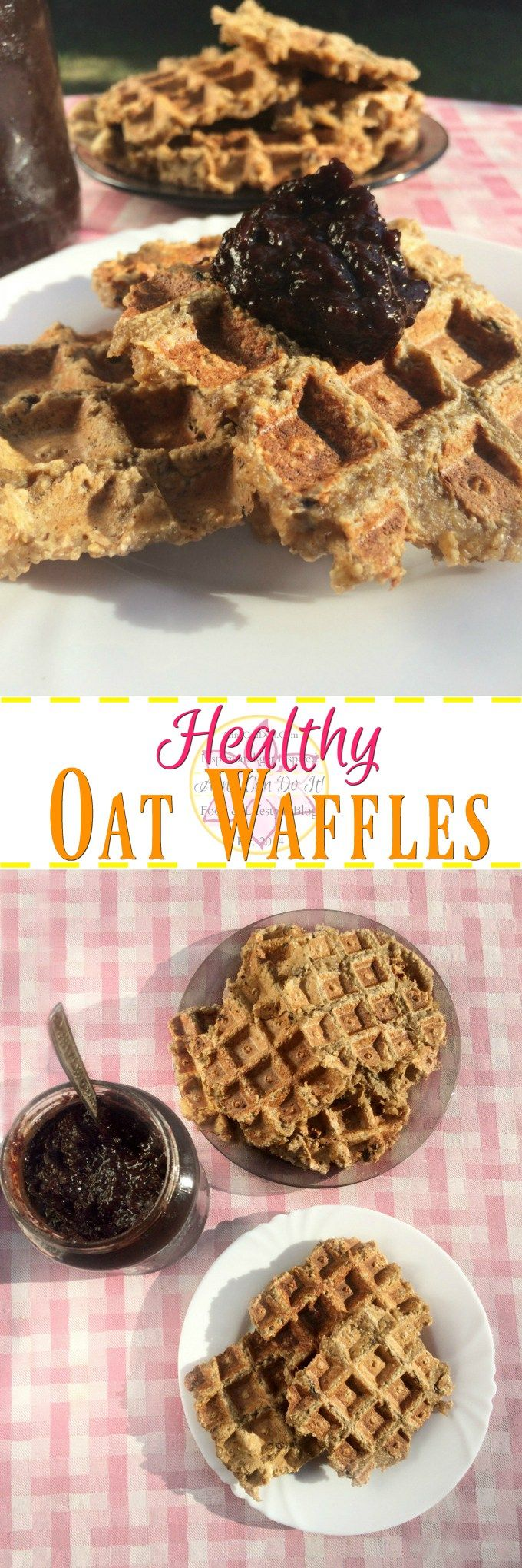 Healthy Oat Waffles - Anna Can Do It!