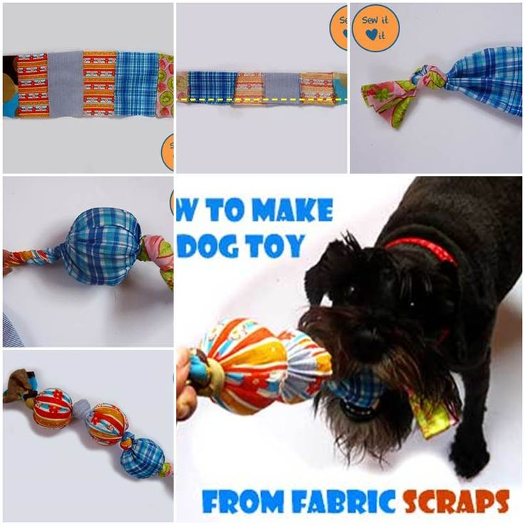 DIY Dog Toys from Fabric Scraps