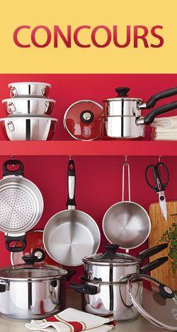Gagnez une batterie de cuisine Lagostina. Fin le 15 mai.  http://rienquedugratuit.ca/concours/batterie-lagostina/