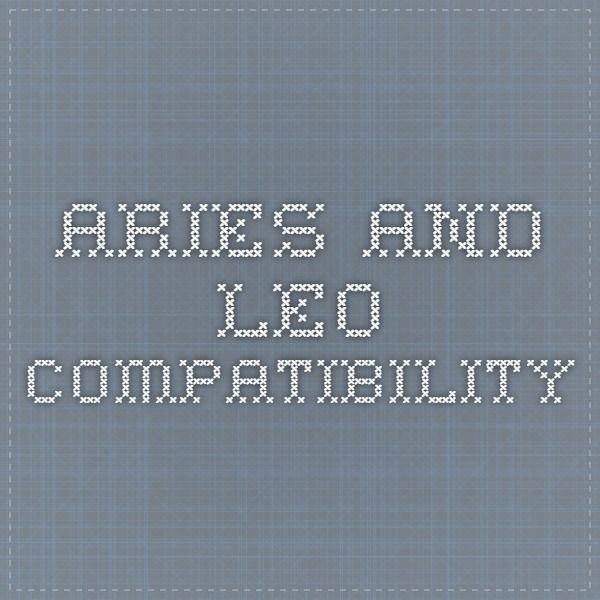 Compatibility of aries man and leo woman