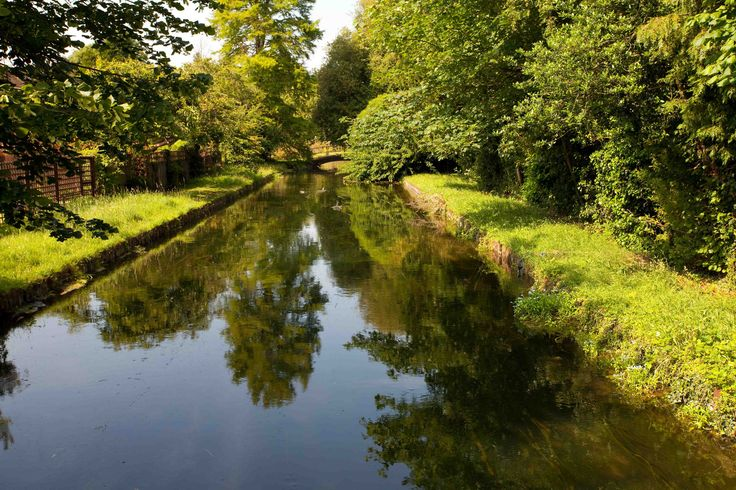 https://flic.kr/p/UzX7VH | Broxbourne Herts | www.adamswaine.co.uk The New River which passes through the centre of the town, was constructed in the early 17th century The New River Path is a long-distance footpath which follows the course of the New River for 28 miles (45 km) from its source in Hertfordshire to its original end in Islington, London. The path is waymarked throughout its length and all signs display the NR logo
