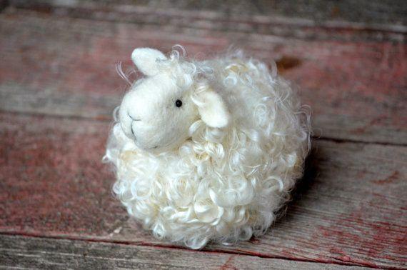 DIY Kit - Sheep Needle Felting Kit - Lamb Craft Kit - make your own felted miniature