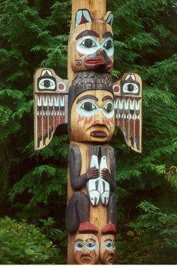 native american totem poles - Google Search