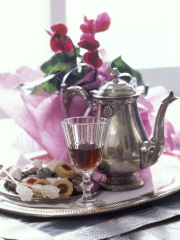 Silver Tray with Biscuits and Tea Photographic Print by Alena Hrbkova at eu.art.com