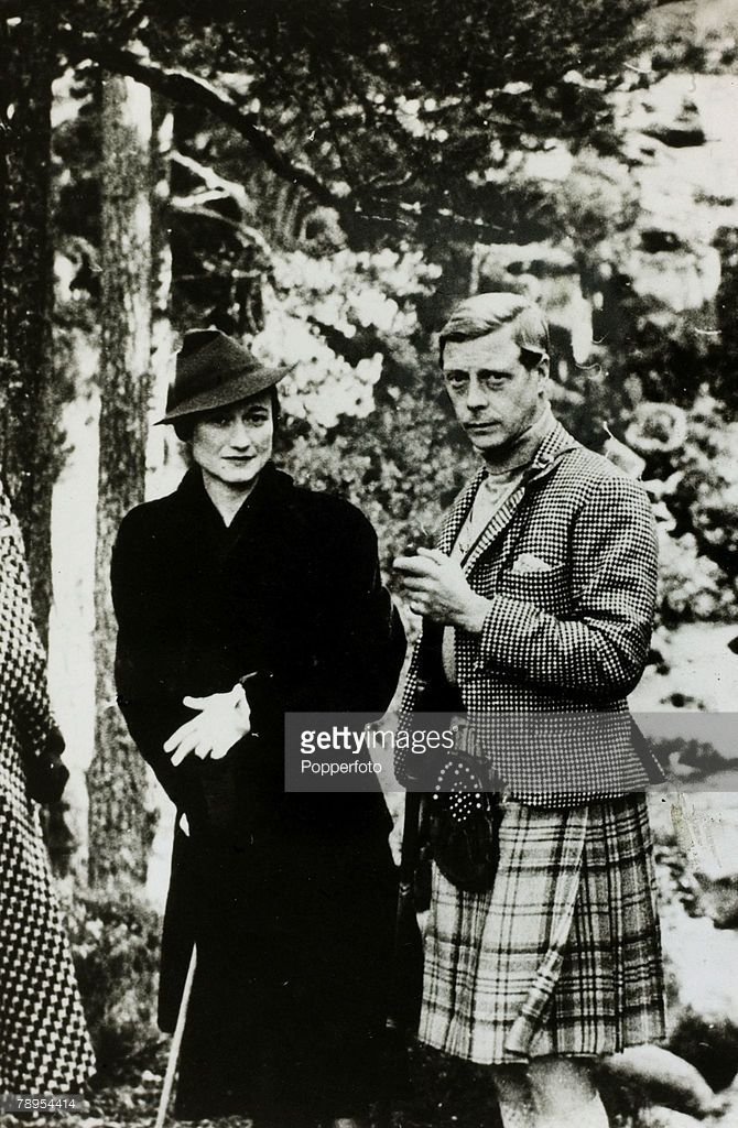 circa 1936, HRH, Prince of Wales, (Duke of Windsor) and Wallis Simpson pictured at Balmoral (Photo by Popperfoto/Getty Images)