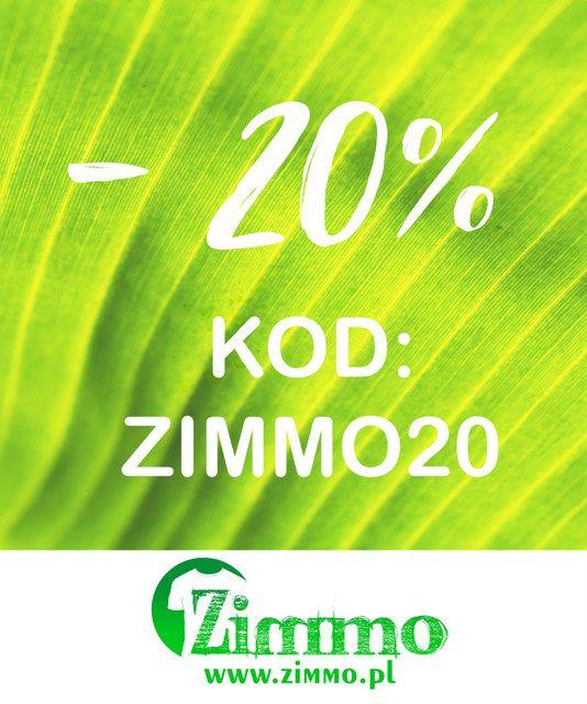 Skorzystaj z rabatu -20% na wszystkie produkty w sklepie internetowym! Tylko do 9 sierpnia 2017 roku do godziny 23:59  www.zimmo.pl