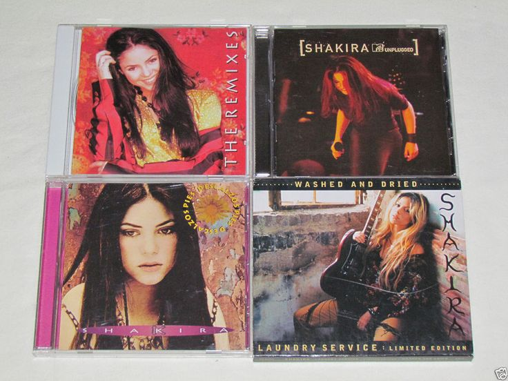 SHAKIRA 4 CD Lot Collection Albums PIES DESCALZOS/UNPLUGGED/LAUNDRY/THE REMIXES